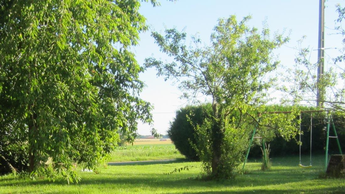 Gîte Planoy Espace vert 2